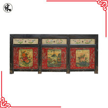 chinese antique painted lacquer storage living room old distressed furniture