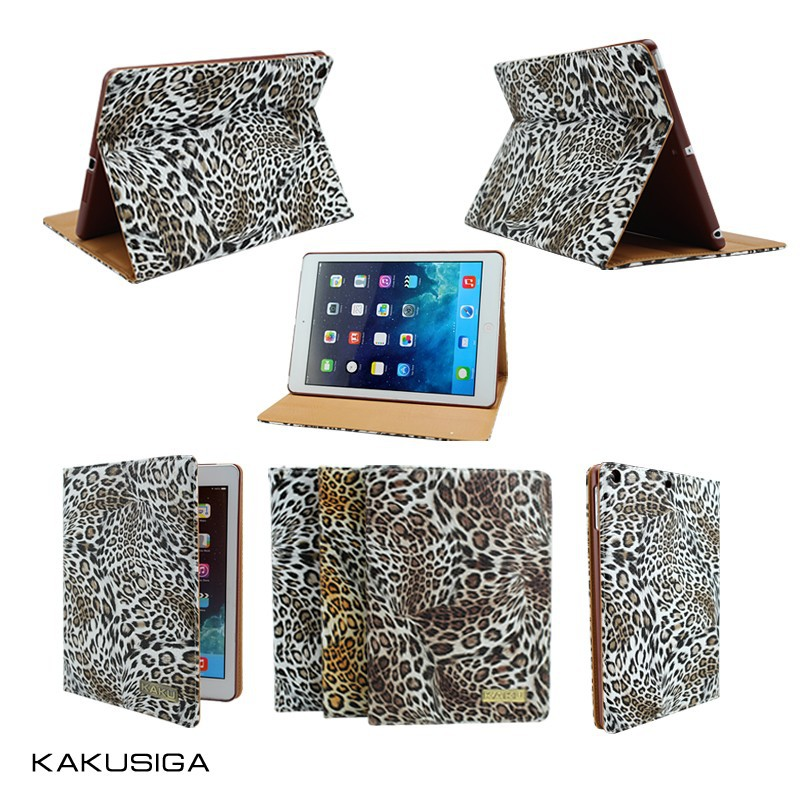 H&H hot selling leopard pattern for ipad mini retina smart case