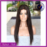 Alibaba express raw unprocessed wholesale 7A lace front indian human hair wig
