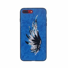 3D paste leather Embroidery Animal Phone Case For iPhone 7 Art Vintage Handmade Elegant TPU+PC Back Cover For iPhone7