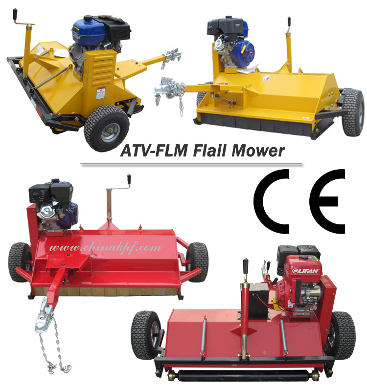 Tow behind flail mower with B&S engine