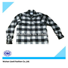 men long sleeve yarn dyed padded shirt