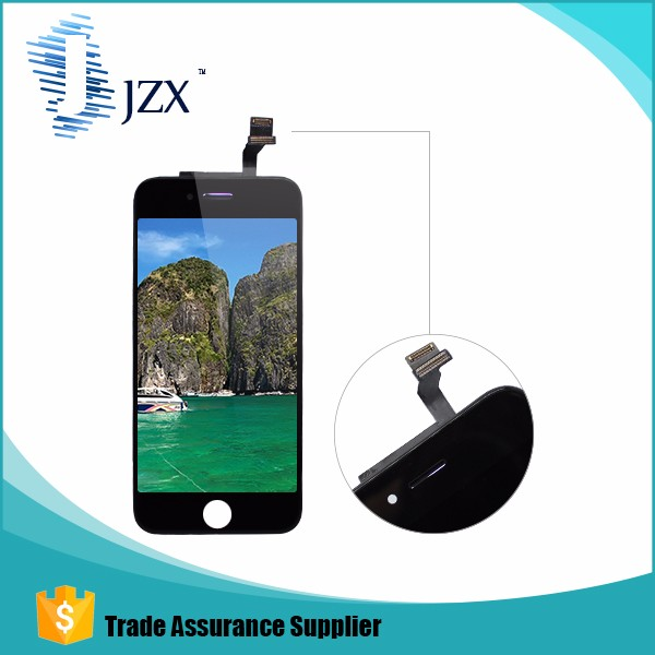 Black Front Outer Screen Glass for Apple iPhone 6 lcd 4.7""
