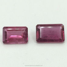 #HZZZNatural Pink Tourmaline Emerald Cut Faceted Loose Gemstone Rubellite