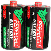 perfecell brand size d batteries zn-mnO2 1.5v r20 um-1 d carbon battery