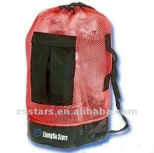 Red high quality and great value beach mesh backpack
