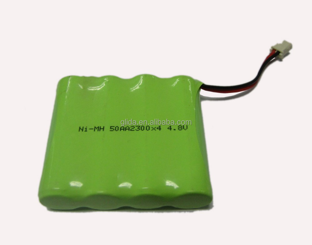 AA 4.8V 2300mAh NiMH Rechargeable Battery Pack Manufacturer with CE,ROHS,UL certificates