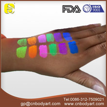 Professional cosmetic Neon UV Face paint and Body paint