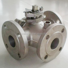 Flanged Floating Stainless Steel 3 Way Ball Valve 4 Inch Price