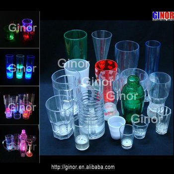 different volume/capacity led flashing cup
