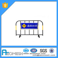 High quality sale iron barrier/traffic facility/ metal crowd control barriers