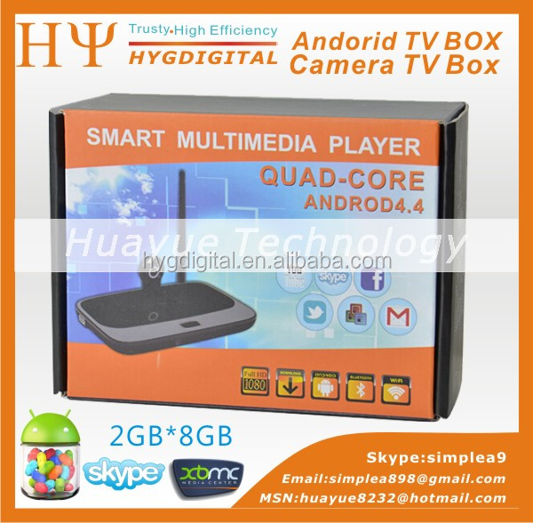 quad core android 4.2 smart tv box rk3188 cs918 android smart tv