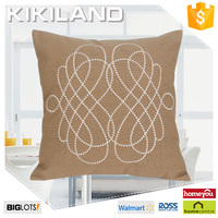 2016 New fashion fake linen indian hand embroidered seat cushion covers