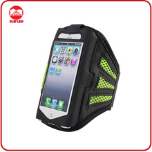 Black Green Breathable Mesh With Adjustable Strap Running Sport Phone Armband for Iphone 5