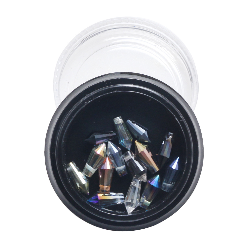 Fashion nail art sticker symphony bullet rhinestone decorations 14 bomd color mixed in a 4cm box