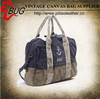 Hand-printed dirty Canvas duffle bag travel bag