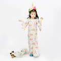 Gold Sequin Unicorn Prints Kids Girl Long Off-Shoulder Dress Children Summer Maxi Dress Party Dresses For Girls Of 18 Years Old