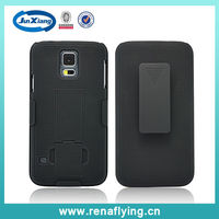 china supplier wholesale cell phone case for samsung galaxy s5 holster combo cover
