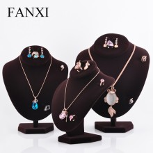 FANXI multifunctional velvet jewelry display stand pendant/necklace/ring/earring display mannequi model jewelry display busts