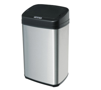 indoor stainless steel square automatic infrared motion sensor trash can