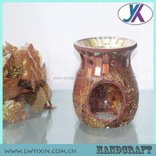 Hot sale 10.5Dx14.5H cheap glass mosaic hand made incense oil burner