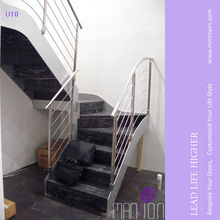 Bespoke Close Step Design Steel Side Beam Wood Staircase