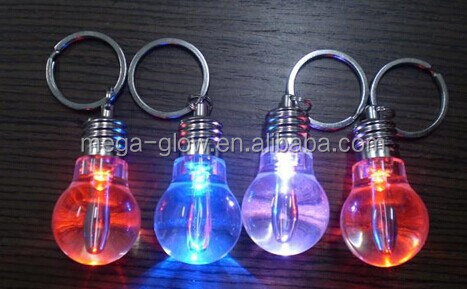 Cheap Promotion Led Key Chain/ Electric Multi Color Key Chain