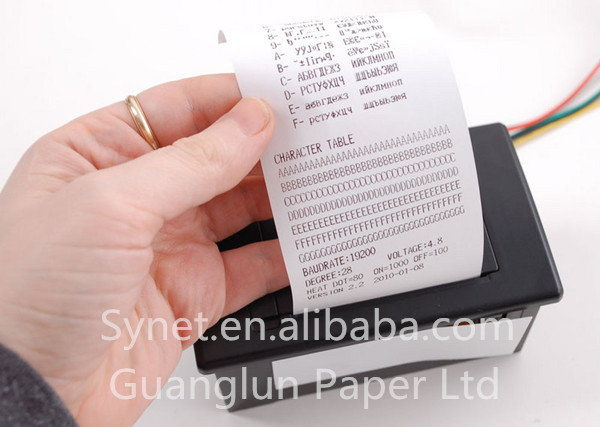 "Jetland thermal paper roll 80x80 mm BPA Free 3 1/8"" X 165' coreless cashier paper roll"
