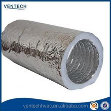 8inch aluminum foil PET film flexible duct with insulation