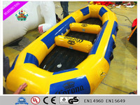 2016 hot-selling inflatable yellow water toys/water boat for kids and adult