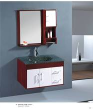 DOMO tempered glass wash hand basins with mirror for bathroom cabines A1001