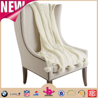 Factory directly wholesale sofa 100% acrylic super soft touch gery white cable knit blankets/chunky knit sweater blankets throws