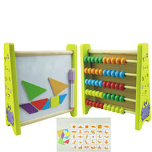 Multifunction abacus and puzzle study toy,Intelligence jigsaw wooden puzzle and abacus,Wooden puzzle for kids