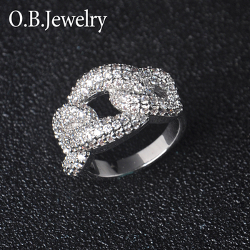 925 Sterling Silver Love Knot Ring Prong Style Finger Ring For Women