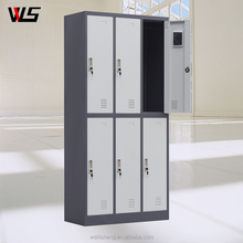 Luoyang WLS Metal Storage School 6 door Loker Steel File Cabinet WIth High Quality
