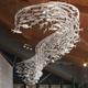 Wholesale custom indoor decorate ceramic fish chandeliers