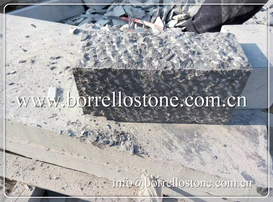grey rough picked bluestone curbstone for landscaping