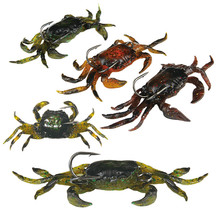 Soft Fishing Lures Crab Artificial Bait with Sharp Hooks Fishing Tackle Accessory Tool