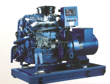 Fuel economy 50HZ 30KW marine diesel generator with marathon alternator