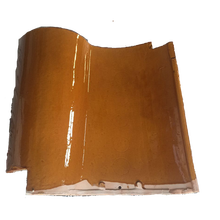high quality new model spanish style shape glazed yellow clay roof tiles