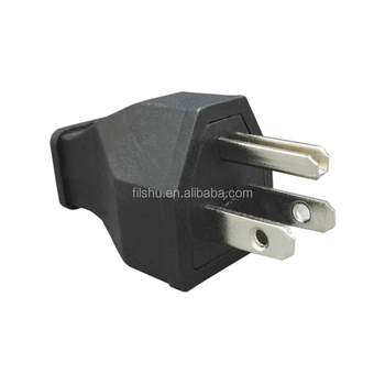 2P+E grounding Canada Japan US Straight Blade Plug 15A 125V