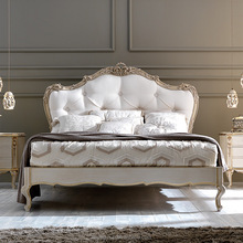 Luxury Rococo french provincial king bed