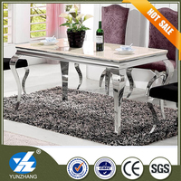 Modern 4 to 6 people marble top dining table