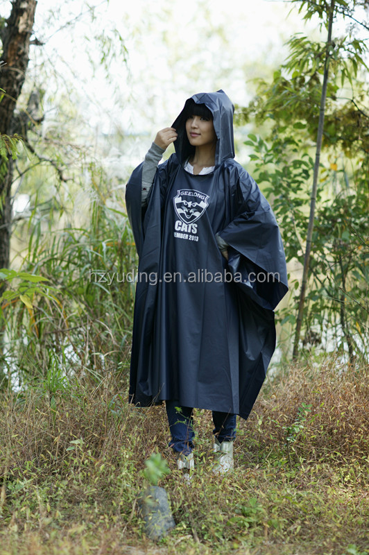 Top Quality Custom Printed Outdoor Adult PVC Rain Poncho
