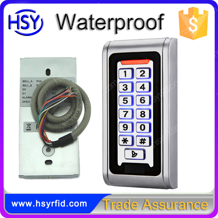 Metal keypad IP68 waterproof single door access control system for apartment