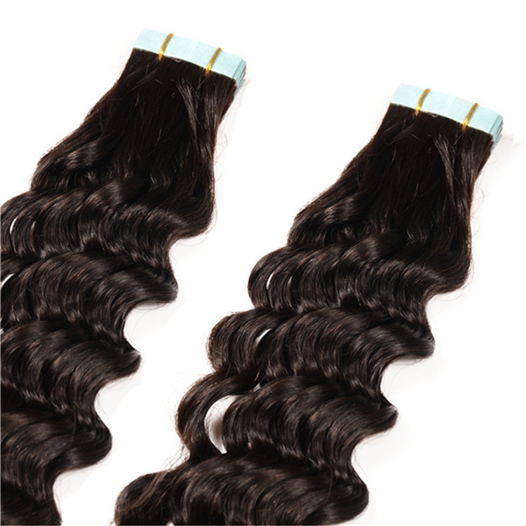 BHF Hair Kinky Curly Double Tape Hair Extensions, Clear Band Tape Hair Extensions