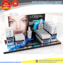 Counter top plexiglass cosmetic display