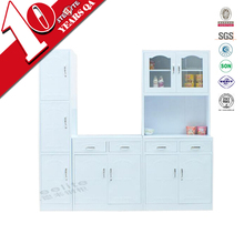 home furniture tall flanged doors white metal lockable kitchen cabinets