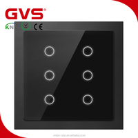 Promotion 1/2/3-Gang GVS EIB KNX 4 fold home automation smart intelligent push button-plastic/mental/glass in KNX Wall Switches