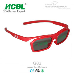 Recycled ABS Frame Linear Polarized 3D Glasses For Hollywood Hot Movies